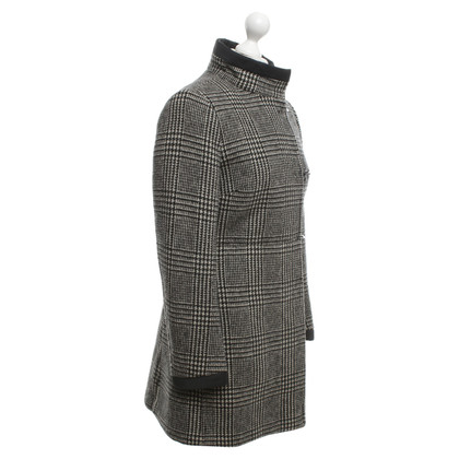 Fay Coat with Glencheck check