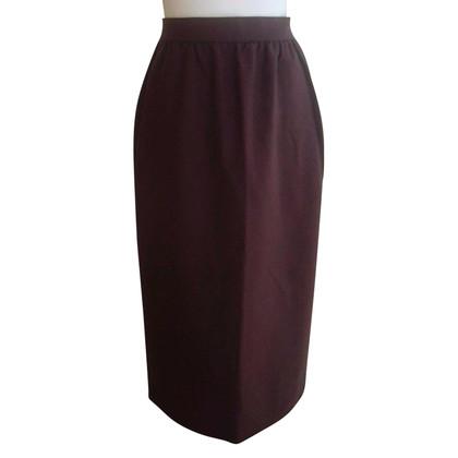 Chloé Long wool skirt