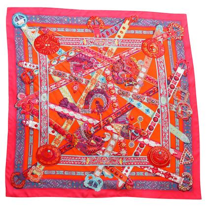 Hermès Foulard en soie avec imprimé coloré