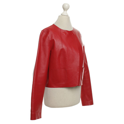 Laurèl Leather jacket in red