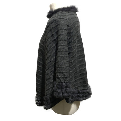 Armani Jeans Poncho with fur