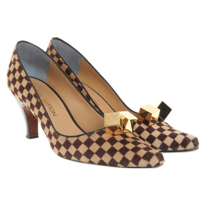 Louis Vuitton pumps with checked pattern