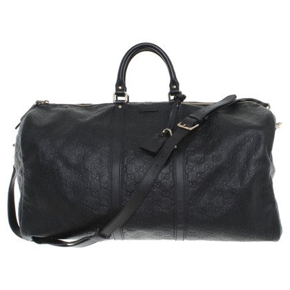 Gucci Leather travel bag in black