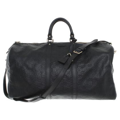 Gucci Borsa da viaggio in pelle nero