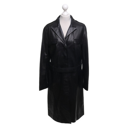 St. Emile Leather coat in dark brown