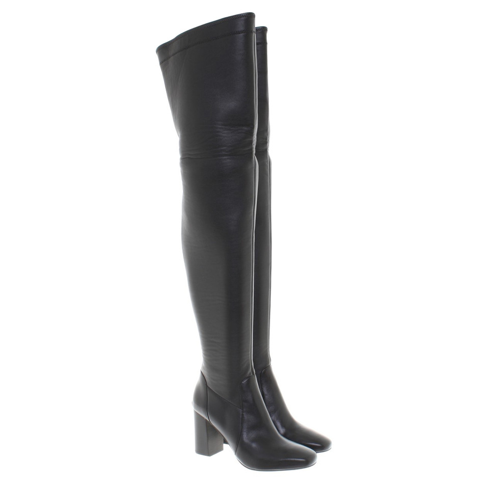 michael kors overknee stiefel in schwarz second hand michael kors overknee stiefel in schwarz. Black Bedroom Furniture Sets. Home Design Ideas