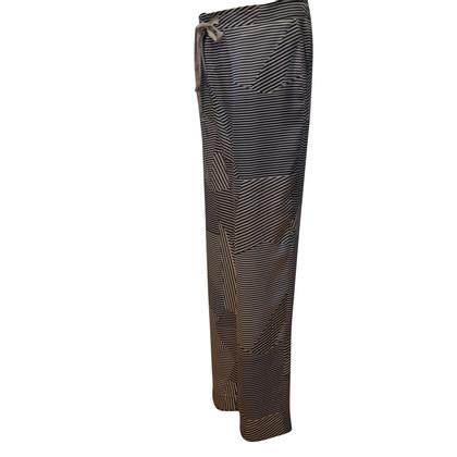Max & Co Pantaloni di seta beige / blu
