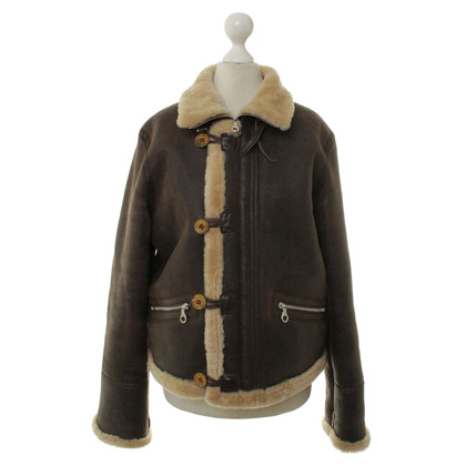 Chips Lambskin jacket in Brown