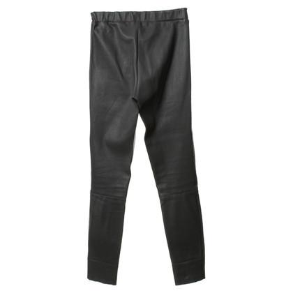 Arma Leggings in pelle grigio/benzina