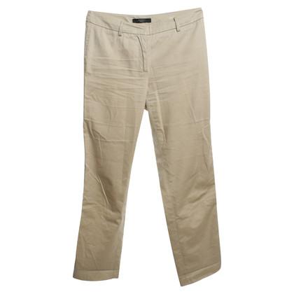 Max Mara Cotton trousers in beige