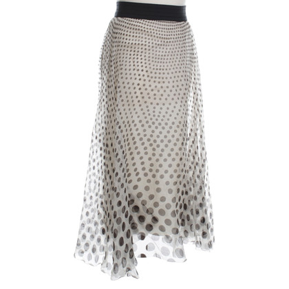 DKNY Silk chiffon skirt with dot pattern