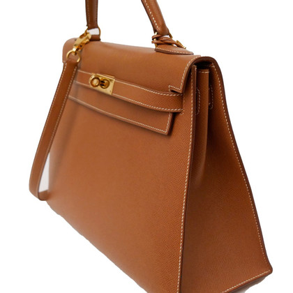 "Hermès ""Kelly Bag 32 Sellier"" in marrone Cognac"