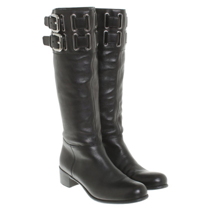Miu Miu Leather boots in black