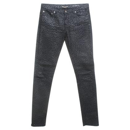 Saint Laurent Jeans mit Leoparden-Print