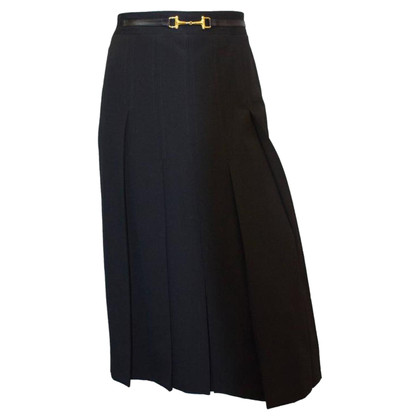Céline 80s Celine knife Pleat Skirt