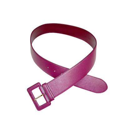 Prada Berry tone leather belt