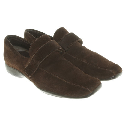 Prada pantofole in pelle in marrone