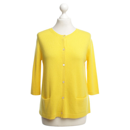 Allude Cashmere jacket in yellow