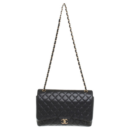 "Chanel ""Maxi Double Flap Bag"" van kaviaar leder"