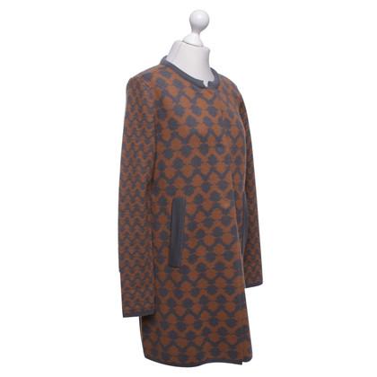 René Lezard Wool coat in orange