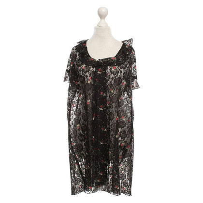 Anna Sui Lace dress with floral pattern