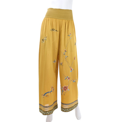Jean Paul Gaultier Jersey pants with embroidery
