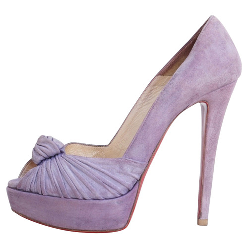 low priced 6d49f 69de0 Christian Louboutin Suede peep toes - Second Hand Christian ...