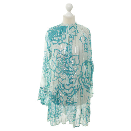 Antik Batik Tuniek met bloemmotief