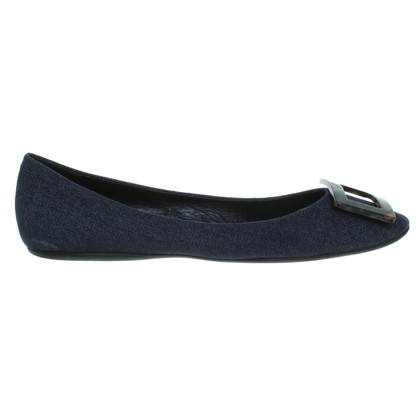 Roger Vivier Ballerinas from denim