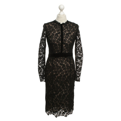 Erdem Kanten jurk in zwart