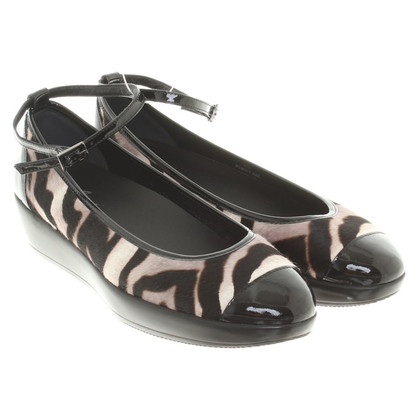 Hogan Ballerinas mit Animal-Design
