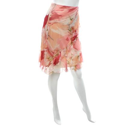 Blumarine Jupe avec un motif floral