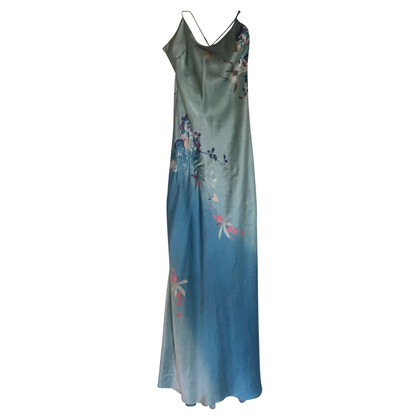 Roberto Cavalli Silk dress in multicolor