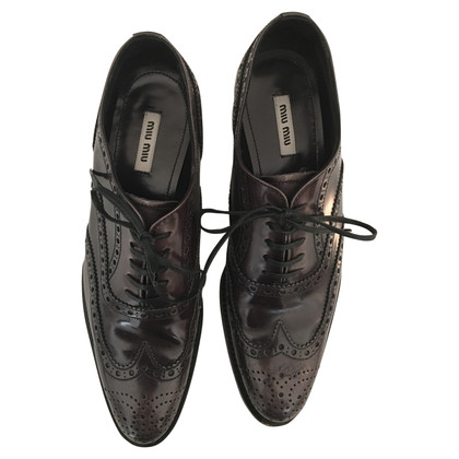 Miu Miu Lace-up shoes in grey