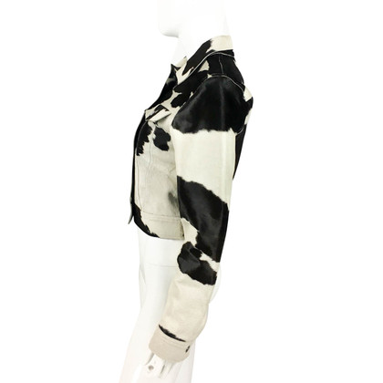 Fendi Pony fur jacket with cow print