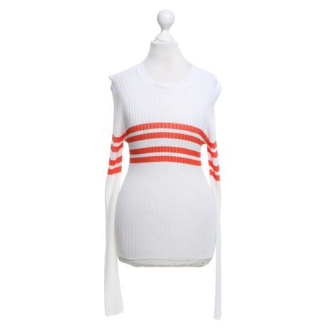 MSGM Strickoberteil in Weiß Weiß Beste Günstig Online Billig Verkauf Niedrig Versandkosten a7rGE3Up