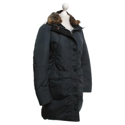 Peuterey cappotto invernale con collo di pelliccia