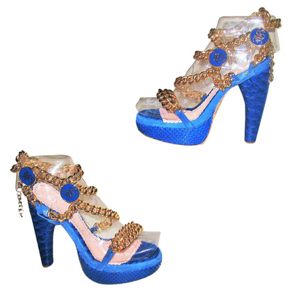 John Galliano Sandals made of python leather