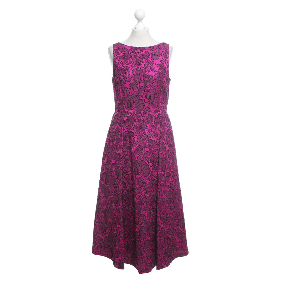 Badgley Mischka Kleid in Fuchsia/Schwarz
