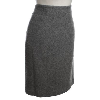 Akris Cashmere Rok in Gray