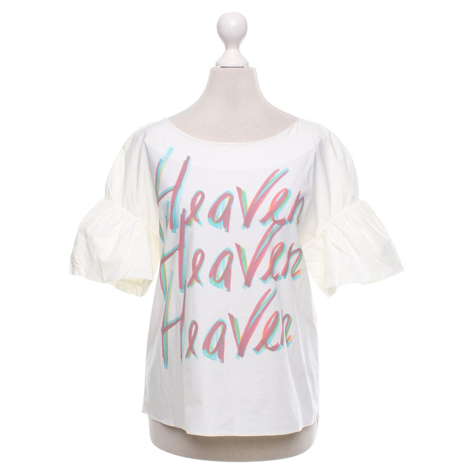Moschino Blouse shirt in white / multicolor
