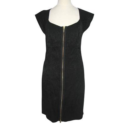 Reiss Schwarzes Kleid mit Reißverschluss