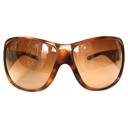 Versace tortoiseshell wraparound sunglasses