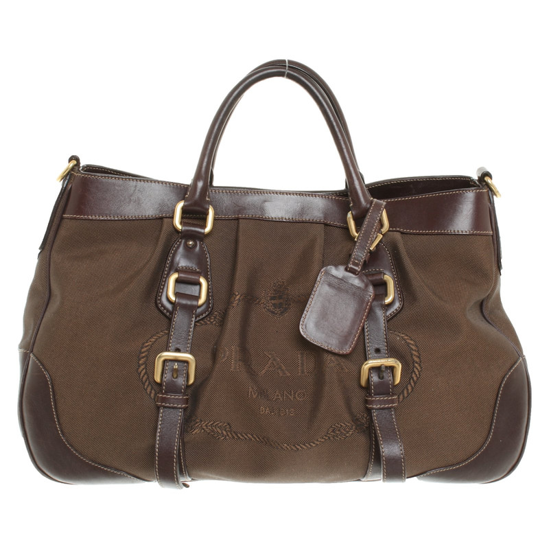 ... low price prada bowling bag in brown 794f7 10ec4 db2d051842b11