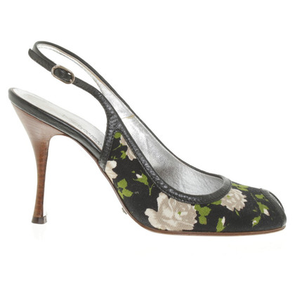 Dolce & Gabbana Peeptoes mit floralem Muster