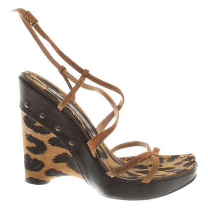 Casadei Compensées à motif léopard