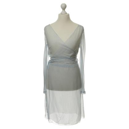 Day Birger & Mikkelsen Transparent silk dress in blue