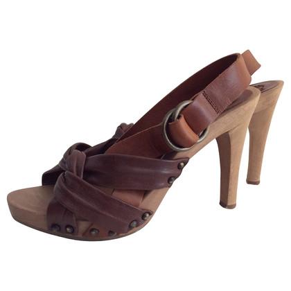 Chloé Sandalen gemaakt van hout