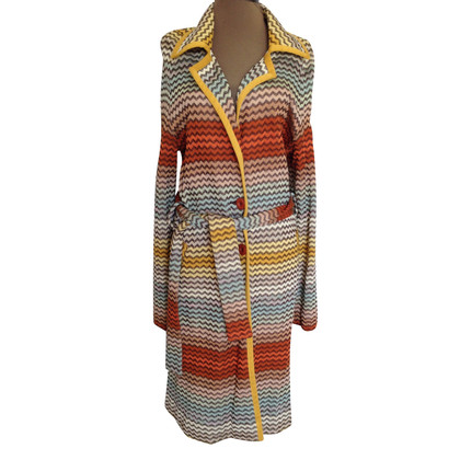 Missoni by Target Zig Zag knit belted coat