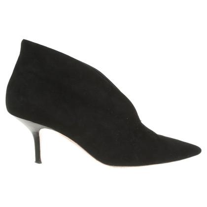 Céline Suede ankle boots